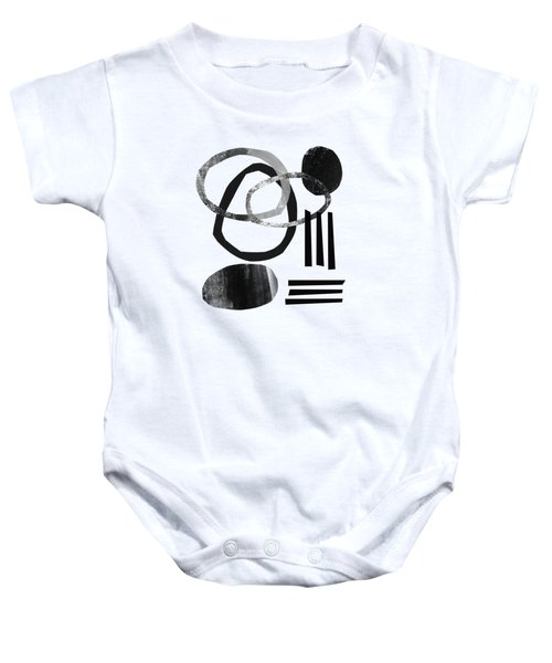 Black And White- Abstract Art Baby Onesie