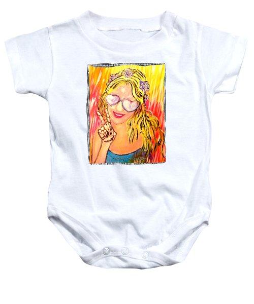 Peace  Baby Onesie
