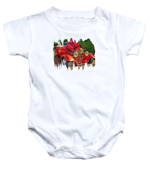 The Red Bell Roadster Baby Onesie