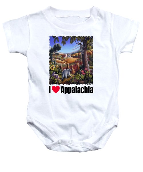 I Love Appalachia - Coon Gap Holler Country Farm Landscape 1 Baby Onesie