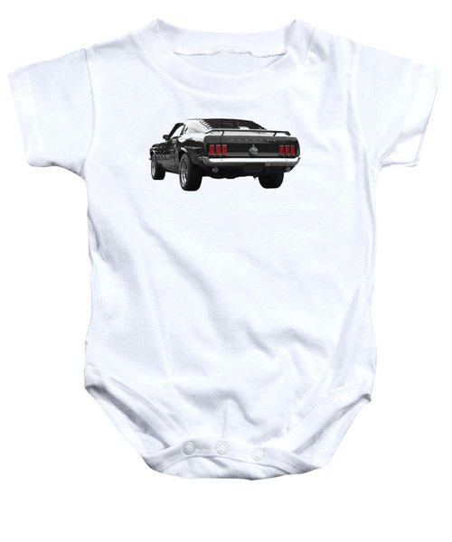 Rear Of The Year - '69 Mustang Baby Onesie