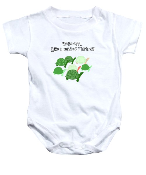 Herd Of Turtles Pattern Baby Onesie