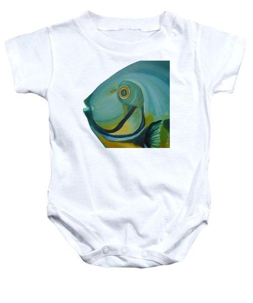 Blue Fish Baby Onesie