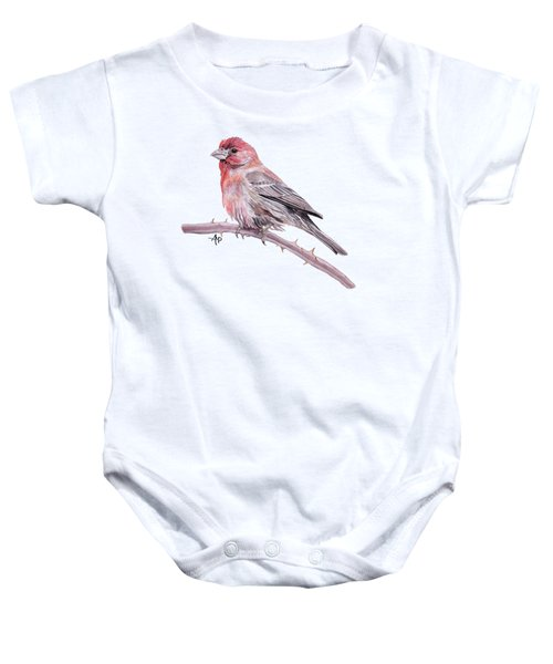 House Finch Watercolor Baby Onesie