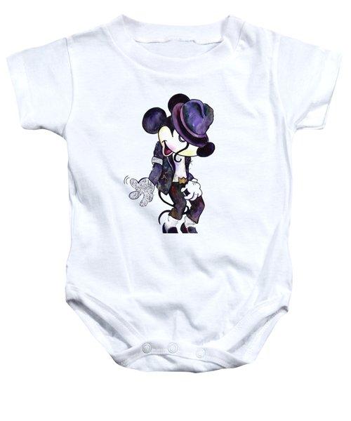 Mickey Mouse-michael Jackson Baby Onesie