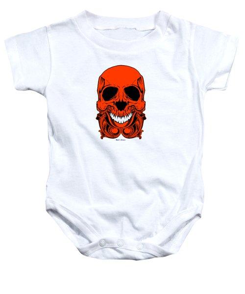 Red Skull  Baby Onesie