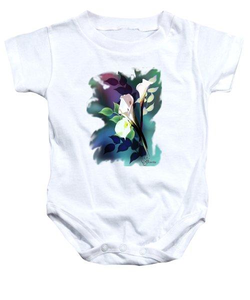 Bouquet In White Baby Onesie