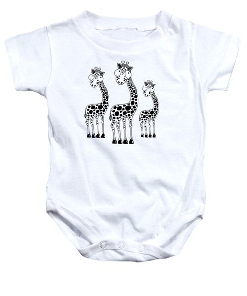 Fudge The Giraffe Baby Onesie by Lucia Stewart