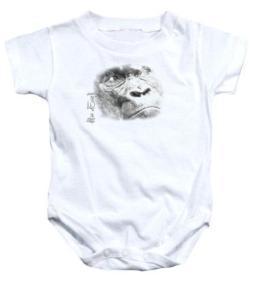 Big Gorilla Baby Onesie by iMia dEsigN