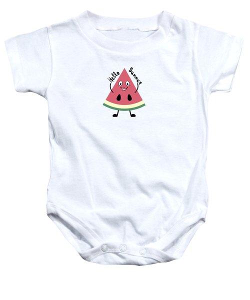 Watermelon Pattern Baby Onesie