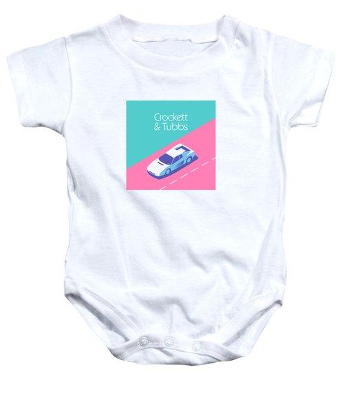 Miami Vice Crockett Tubbs - Aqua Baby Onesie