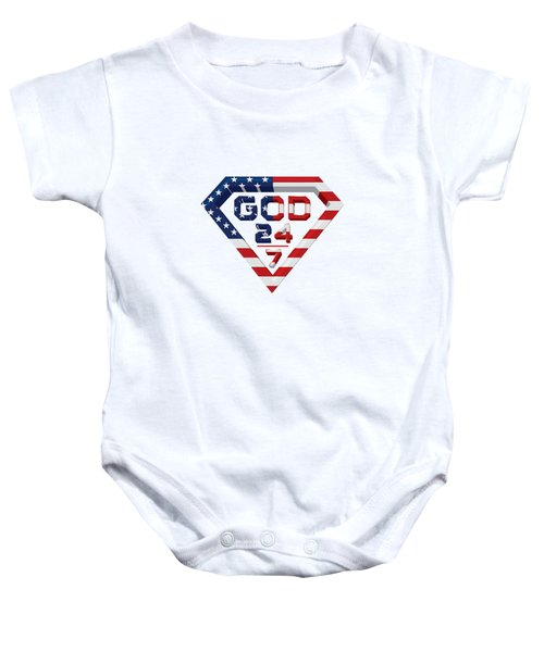 3 D Patriotic Design Baby Onesie by Roshanda Prior