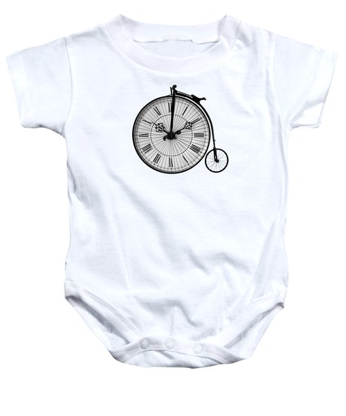 Time To Ride Penny Farthing Baby Onesie