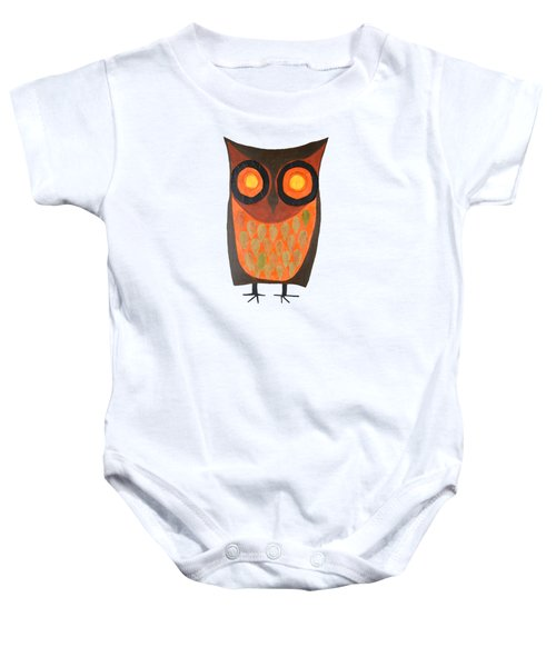 Give A Hoot Orange Owl Baby Onesie