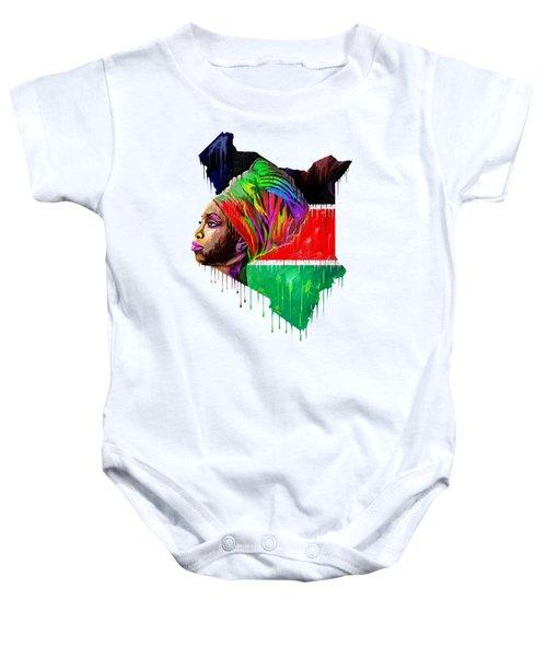 I Love Kenya Baby Onesie
