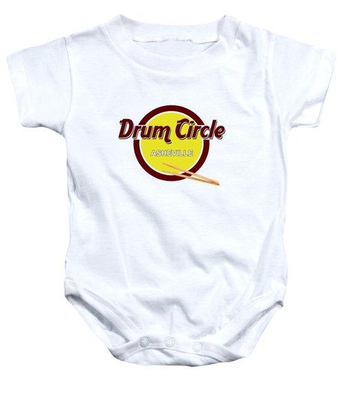 Asheville Drum Circle Logo Baby Onesie