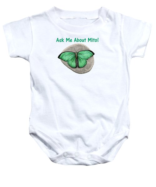 Ask Me About Mito T-shirt Or Tote Bag Baby Onesie