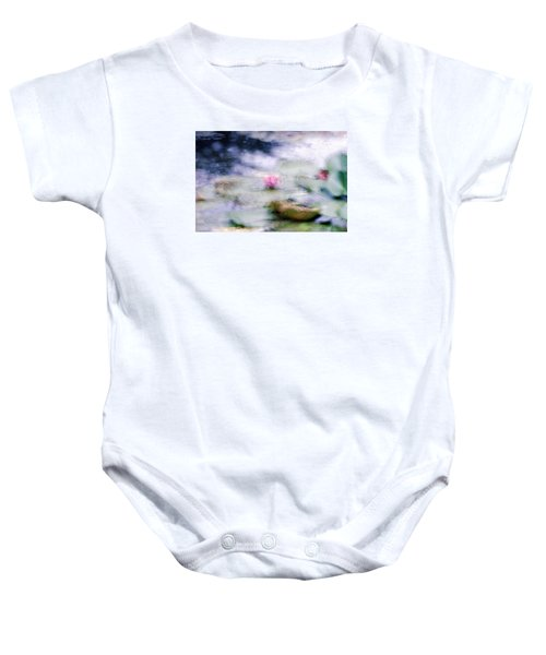 Baby Onesie featuring the photograph At Claude Monet's Water Garden 12 by Dubi Roman