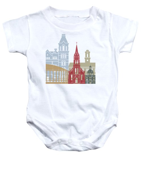 Athens Oh Skyline Poster Baby Onesie