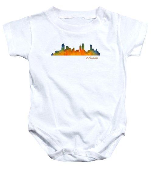 Atlanta City Skyline Hq V1 Baby Onesie
