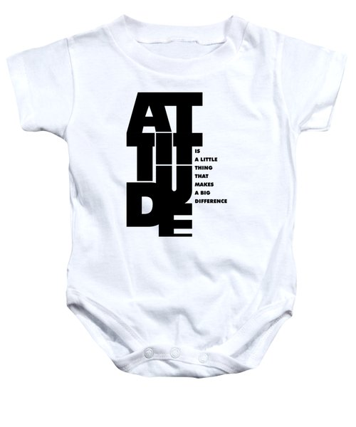 Attitude - Winston Churchill Inspirational Typographic Quote Art Poster Baby Onesie