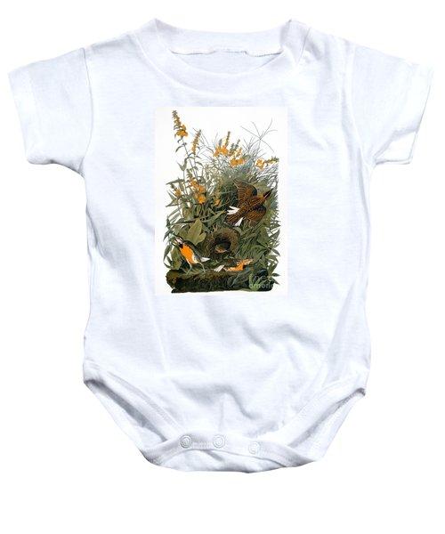 Audubon: Meadowlark Baby Onesie