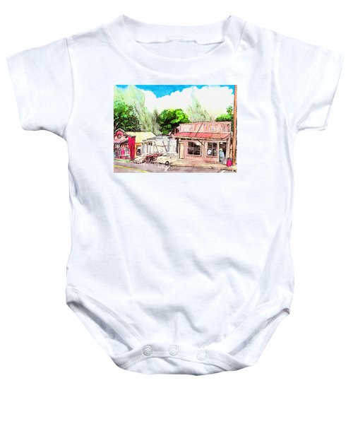 Auggies Pool Hall Baby Onesie