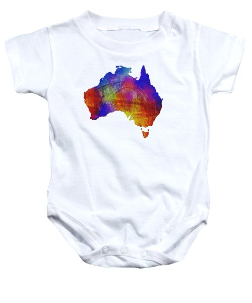 Australia And Sydney Harbour Bridge By Kaye Menner Baby Onesie by Kaye Menner