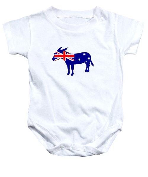 Australian Flag - Donkey Baby Onesie