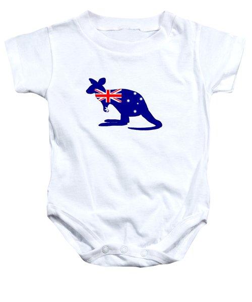 Australian Flag - Kangaroo Baby Onesie