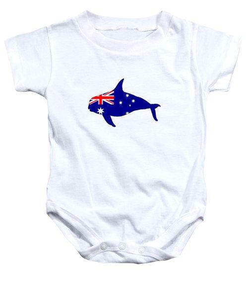 Australian Flag - Killer Whale / Grampus / Orca Baby Onesie by Mordax Furittus