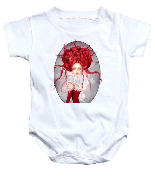 Baby Onesie featuring the drawing Autumn by Julia Art
