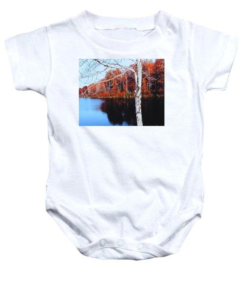 Autumn Lake Baby Onesie