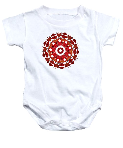 Autumn Leaves Mandala By Kaye Menner Baby Onesie
