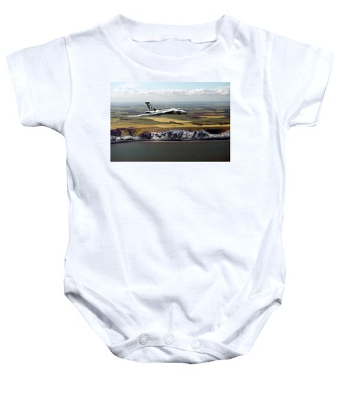 Avro Vulcan Over The White Cliffs Of Dover Baby Onesie
