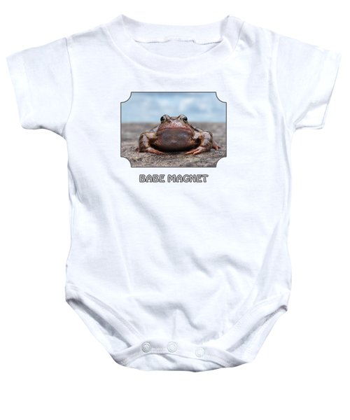 Babe Magnet - Blues Baby Onesie by Gill Billington