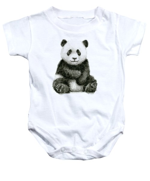 Baby Panda Watercolor Baby Onesie