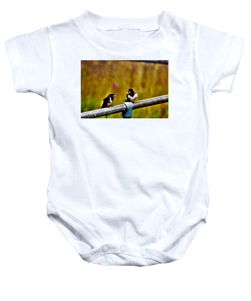 Baby Swallows Baby Onesie
