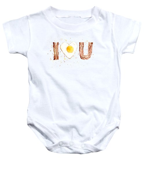 Bacon And Egg I Love You Baby Onesie
