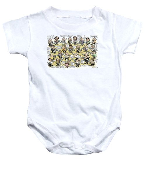 Bad Guys Watch Out Baby Onesie