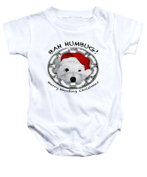 Bah Humbug Merry Woofing Christmas Baby Onesie