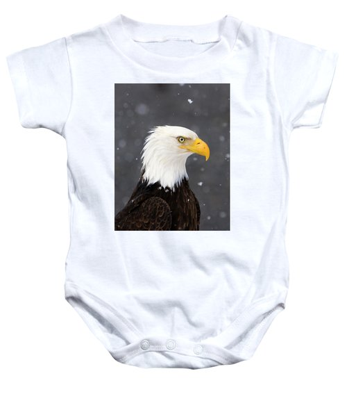 Bald Eagle Intensity Baby Onesie