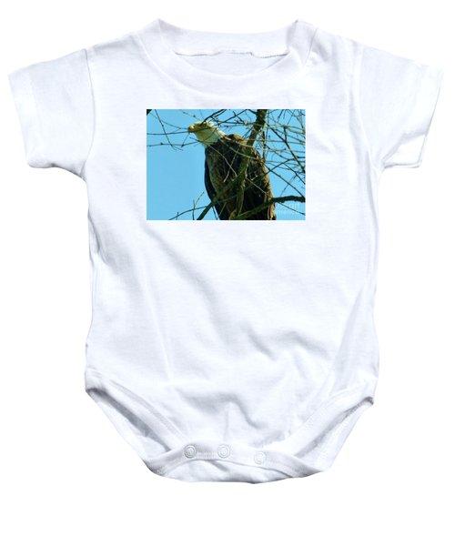 Bald Eagle Keeping Guard Baby Onesie
