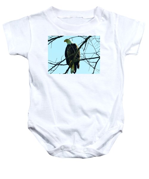 Bald Eagle Over The Root River Baby Onesie