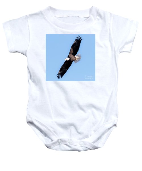 Bald Eagle Overhead  Baby Onesie by Ricky L Jones