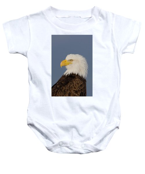 Bald Eagle Portrait Baby Onesie