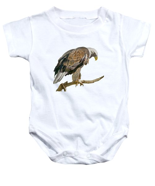 Bald Eagle - Transparent Baby Onesie