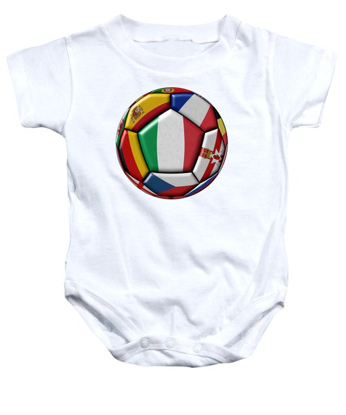 Ball With Flag Of Italy In The Center Baby Onesie