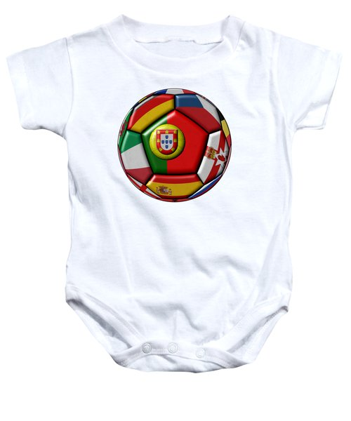 Ball With Flag Of Portugal In The Center Baby Onesie