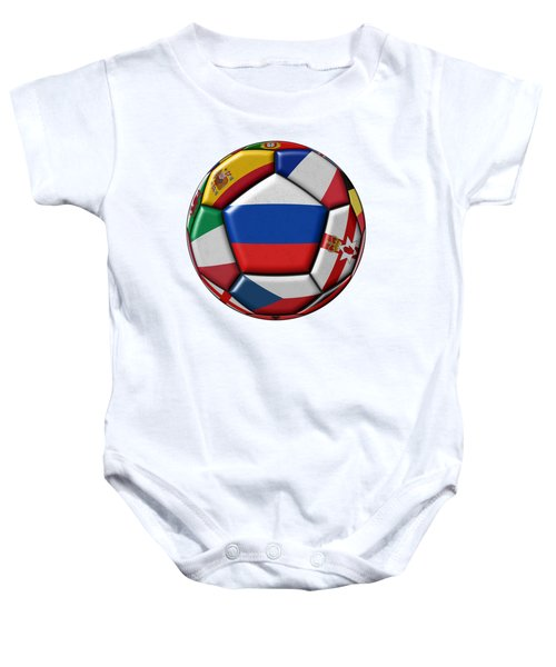 Ball With Flag Of Russia In The Center Baby Onesie